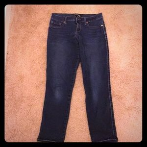 Express crop ankle jeans